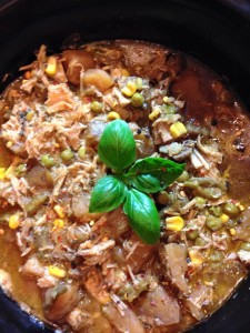 A very nice pork stew with a light , but zesty taste of heat and spice!