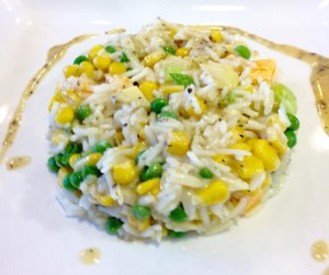 This is an AWESOME rice salad that will impress your friends!!! ... Oh and TOTALLY vegetarian as well!